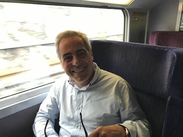 The kind man behind us on the fast train from Paris to Lyon