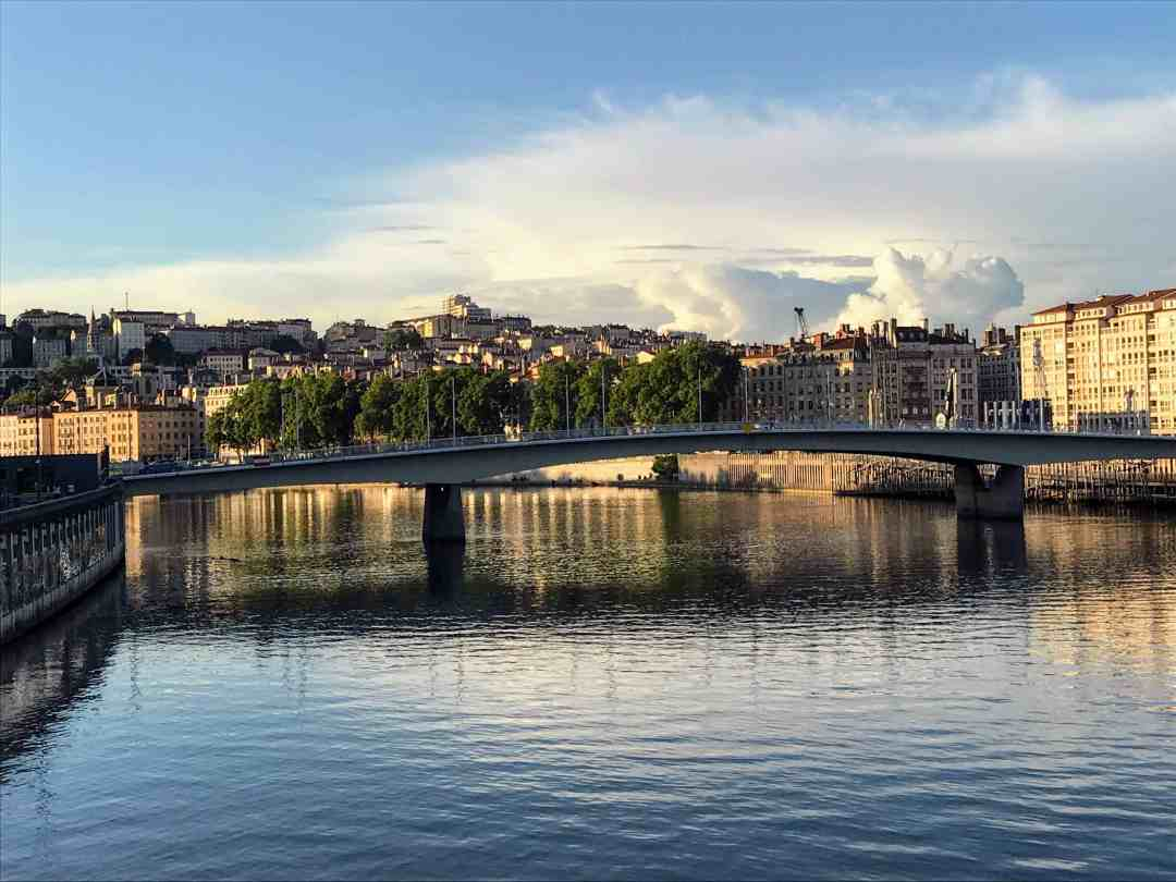 Lyon, a destination mentioned in World Travel: An Irreverent Guide. Sunset on the Saone River in Lyon