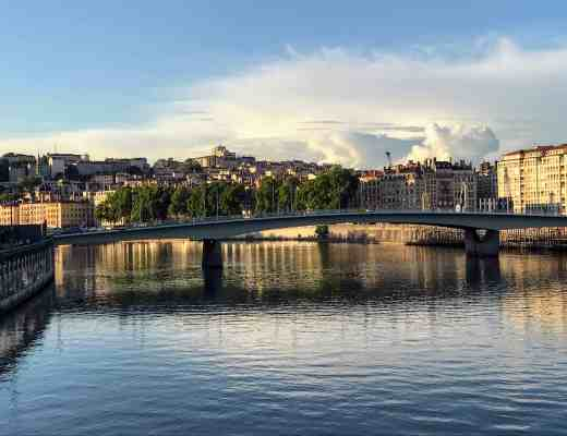 Sunset on the Saone River in Lyon