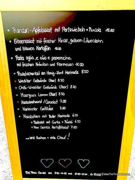 The language-daunting menu