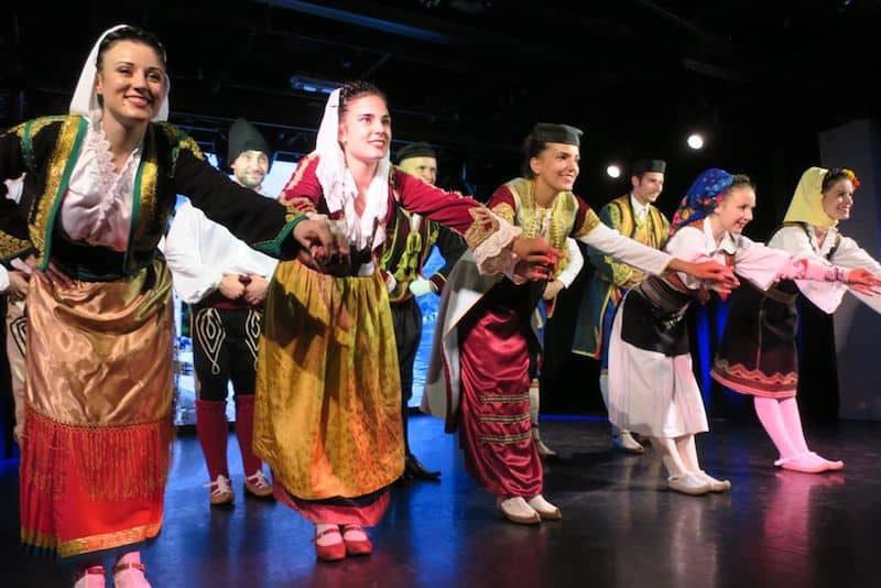 Folk dancers in Montenegro