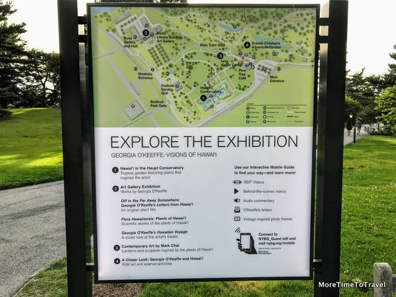 Signage explaining the interactive guide