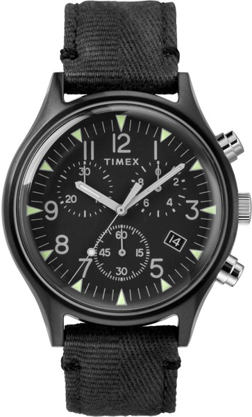 Timex MK1 Steel Chronograph 42mm Fabric Strap Watch