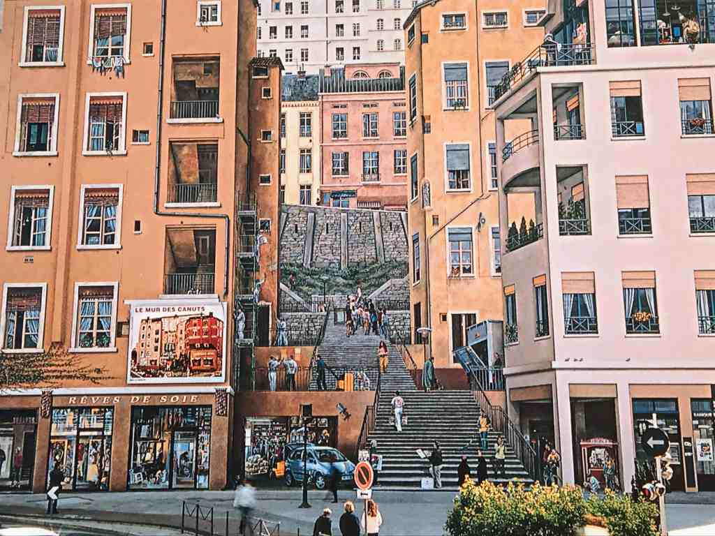 Iconic wall mural in Lyon