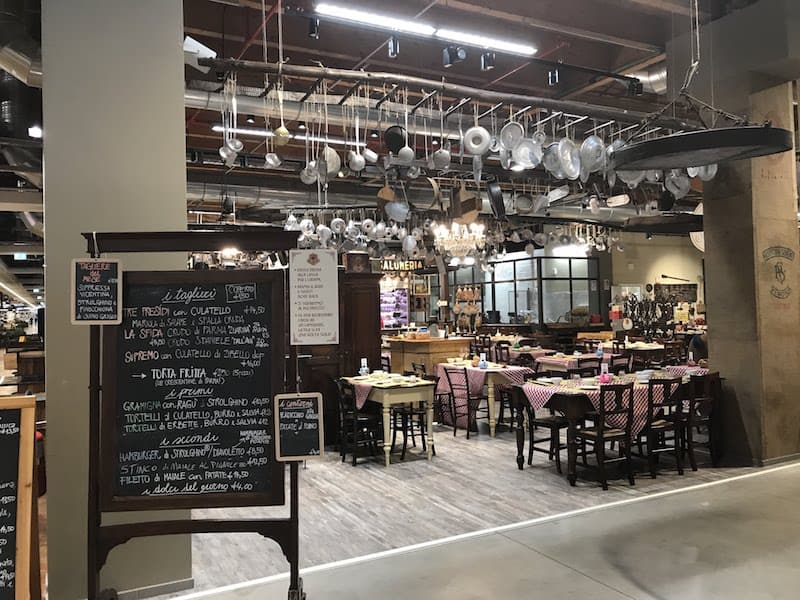 One of the inviting restaurants at FICO Eataly World (Credit: Jerome Levine)