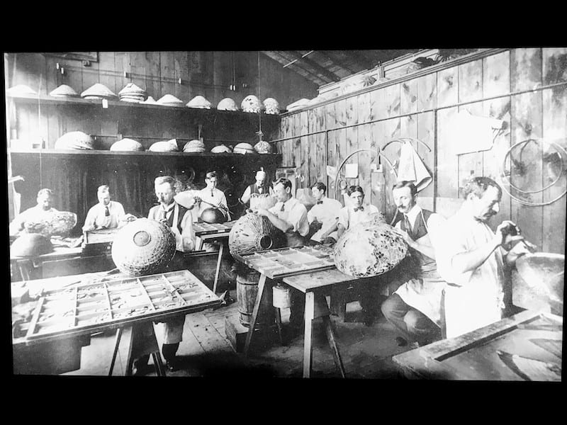 Early photograph of the Tiffany Factory in Queens, NY (Credit: Jerome Levine)