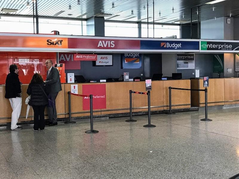 Car Rental Counter at Strasbourg Airport (Credit: Jerome Levine)