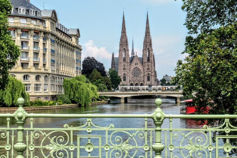 One Day in Strasbourg: Bridge across the River Ill