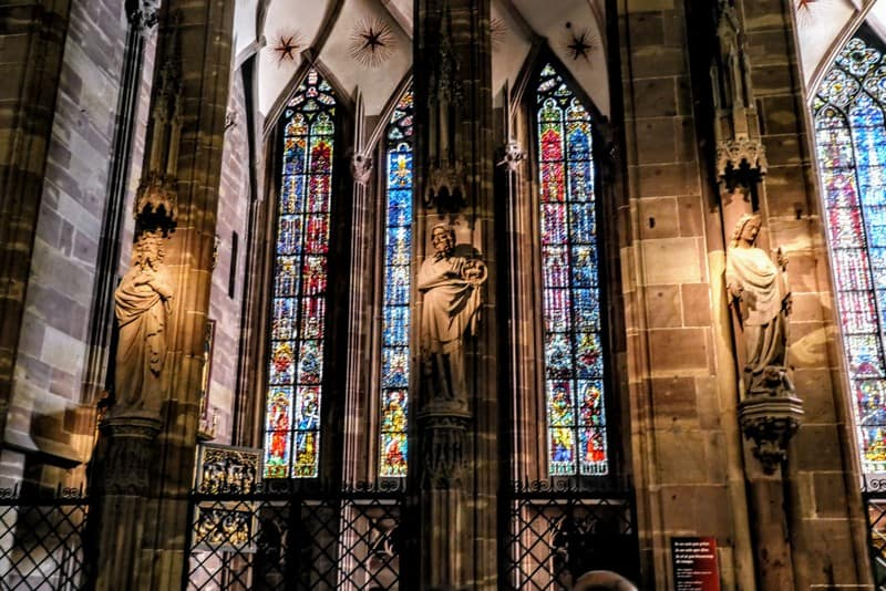 Stained glass windows in Strasbourg Cathedral