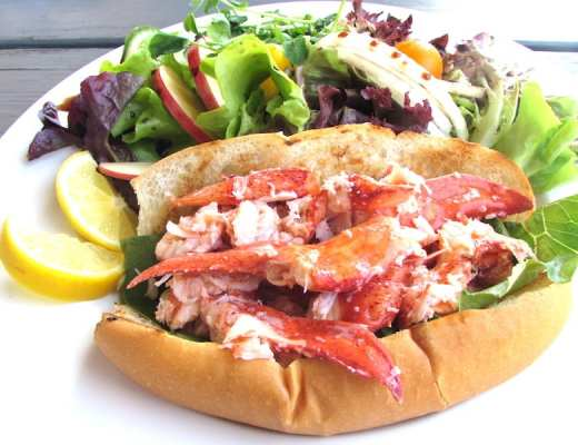 best Lobster Roll. From The Lobster Barn in Victoria by the Sea.