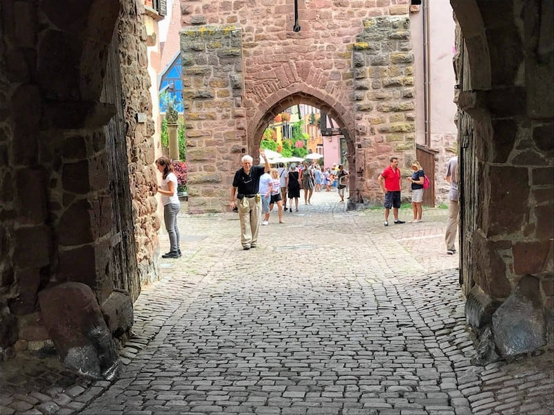 Best Day Trip from Strasbourg - One of the medieval gates in Riquewihr