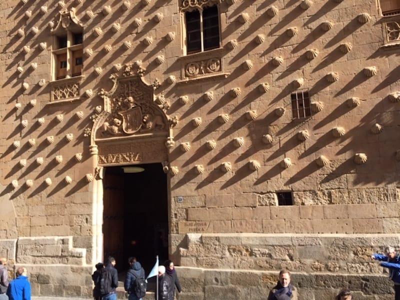 Covered in seashells. Salamanca, Spain