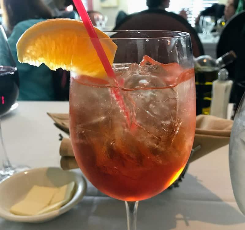 An Aperol spritz in Bologna