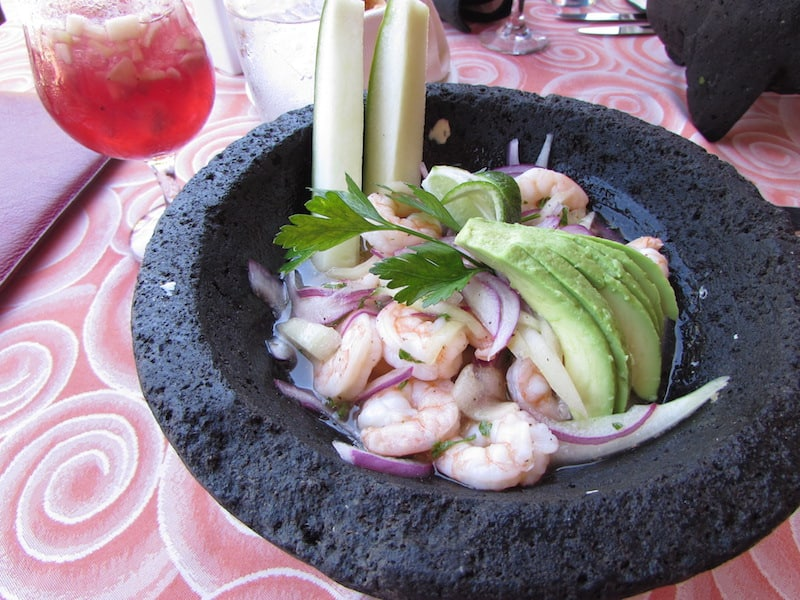 Tasty shrimp ceviche at Panama Jack
