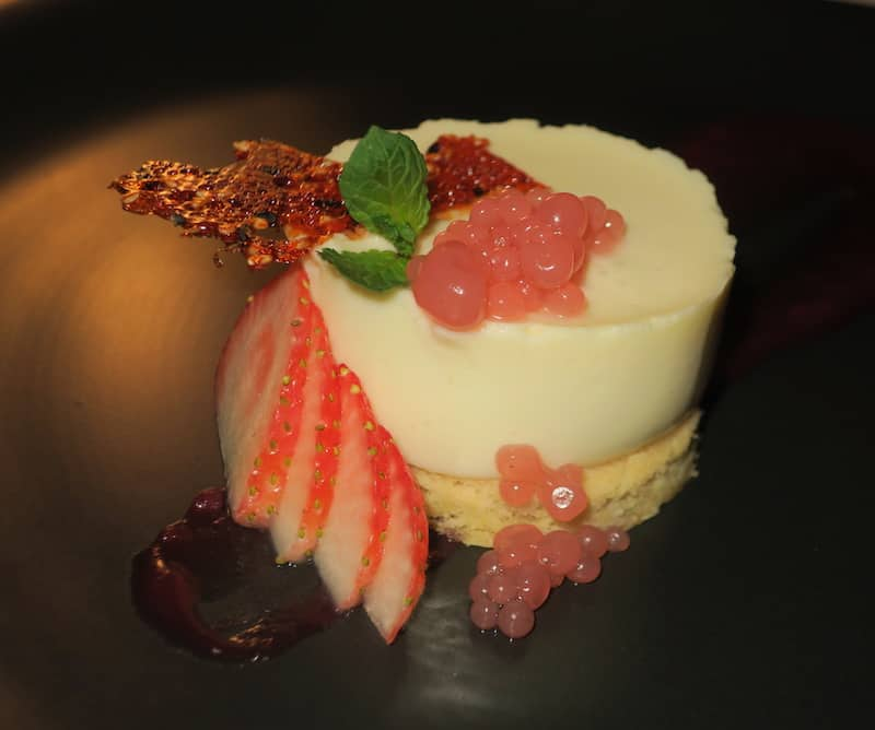 Where to Eat in Barbados -Champagne White Chocolate Cheesecake