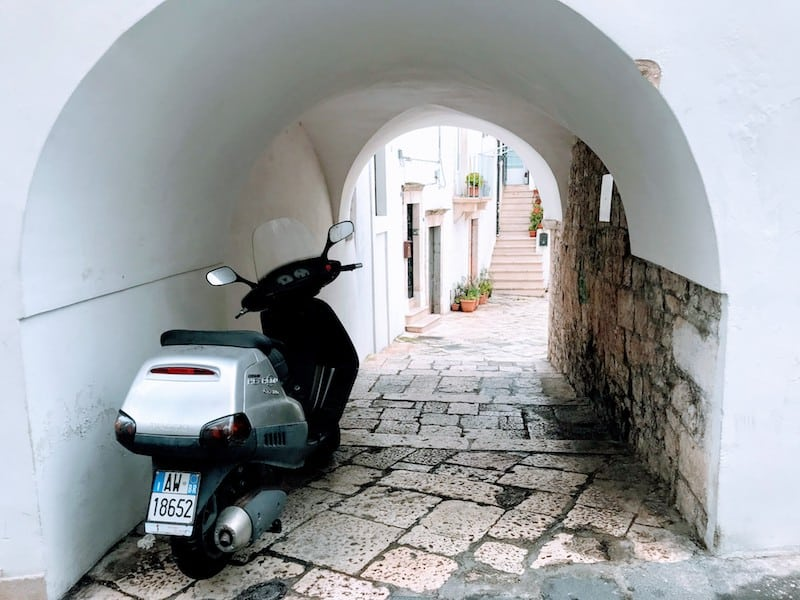 An entryway into the historic center of Locorotondo, one of our favorite travel experiences