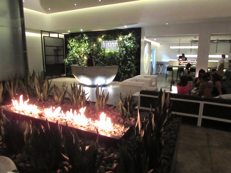 Where to Eat in Barbados -Innovative interior at Fusion Rooftop