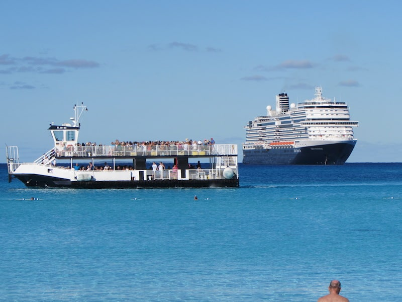 Holland Americas Newest Ship: Efficient tender to Half Moon Cay
