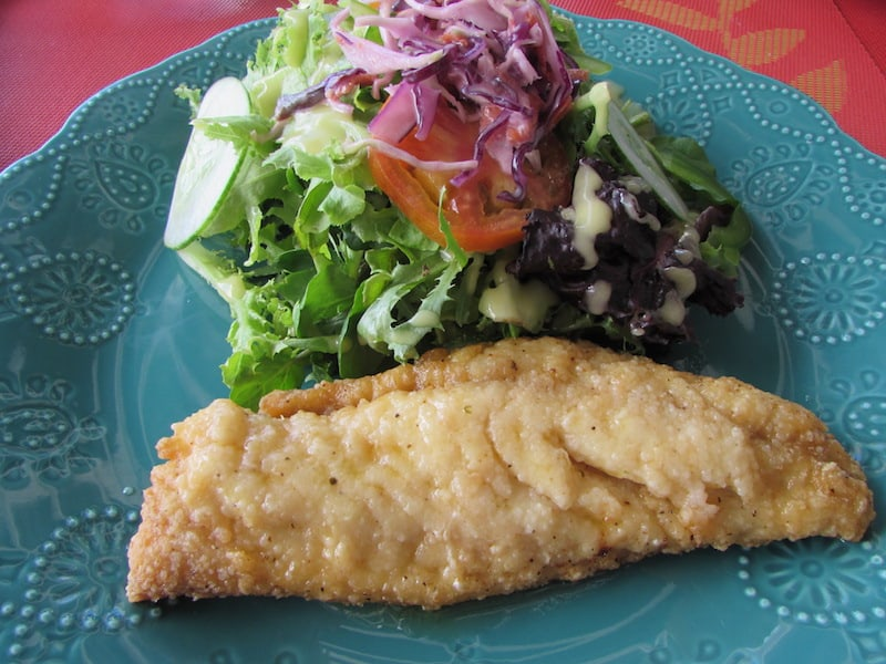 Where to eat in Barbados -Fresh snapper at The Top Deck in Barbados