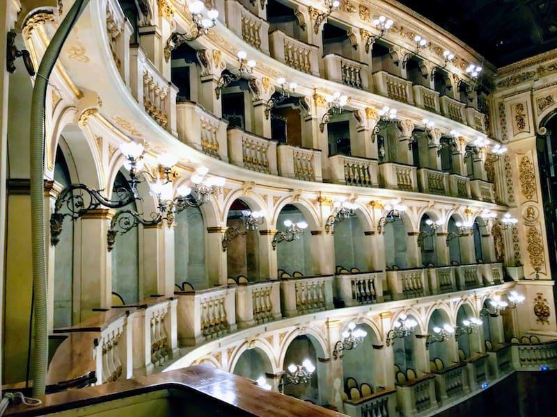 The stunning interior of Teatro Municipale in Bologna