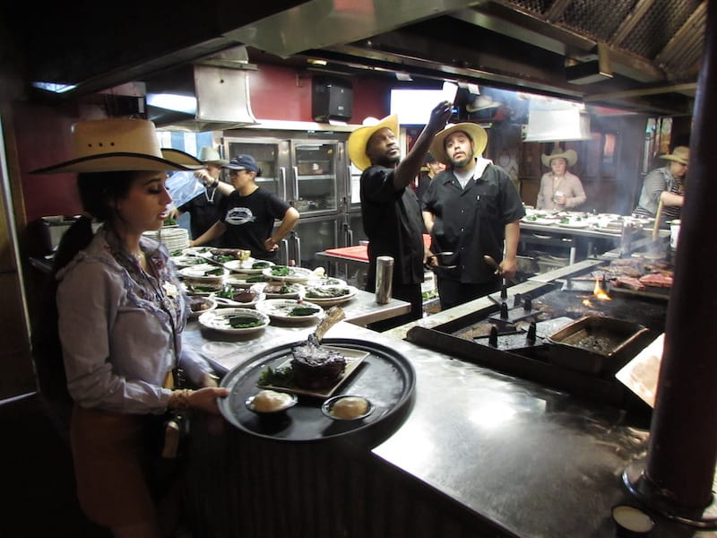 Behind the grill at Big Texan Steak Ranch & Brewery