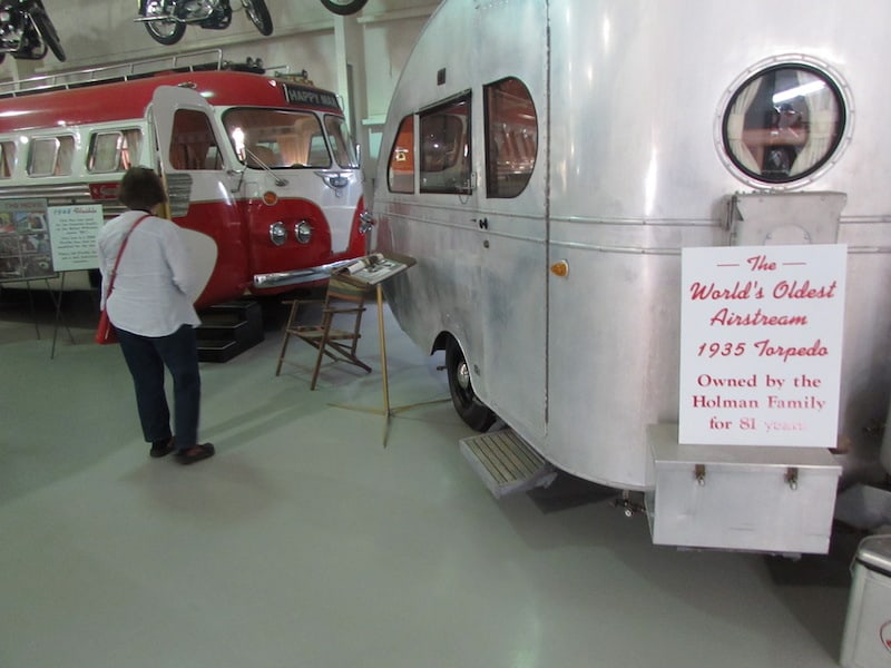 A classic Airstream at Sizemore's RV Museum
