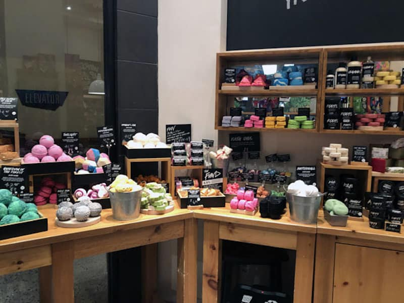 Shopping at Lush (Credit: Nancy Monson)