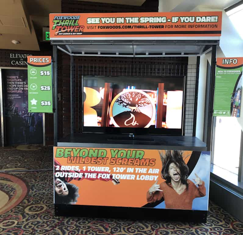 Kiosk at the entrance to the Thrill Ride (Credit: Nancy Monson)