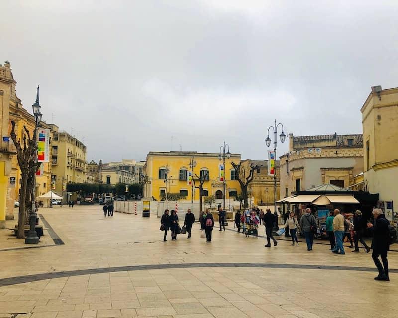 Piazza Vittorio Veneto connects with Via de Corso, the main shopping area in Matera