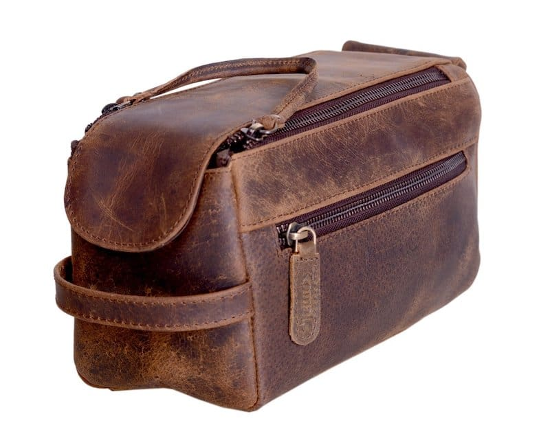 What is a Dopp Kit? The Komalc Leather Travel Dopp Kit, an Amazon favorite