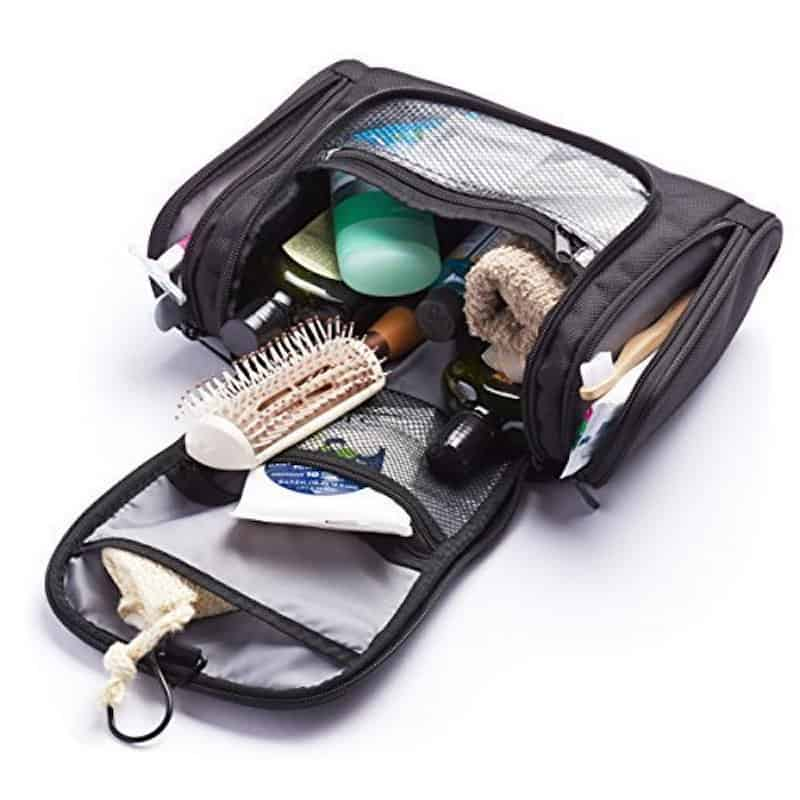 What is a Dopp Kit? An AmazonBasics hanging toiletry kit