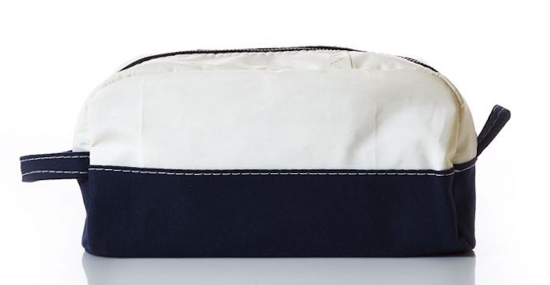 This Chebeague Toiletry Bag by Sea Bags of Maine is made of recycled sails.