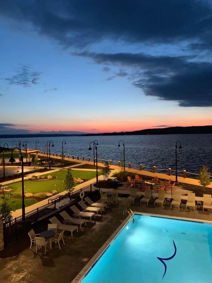 Sunset at the Chautauqua Harbor Hotel