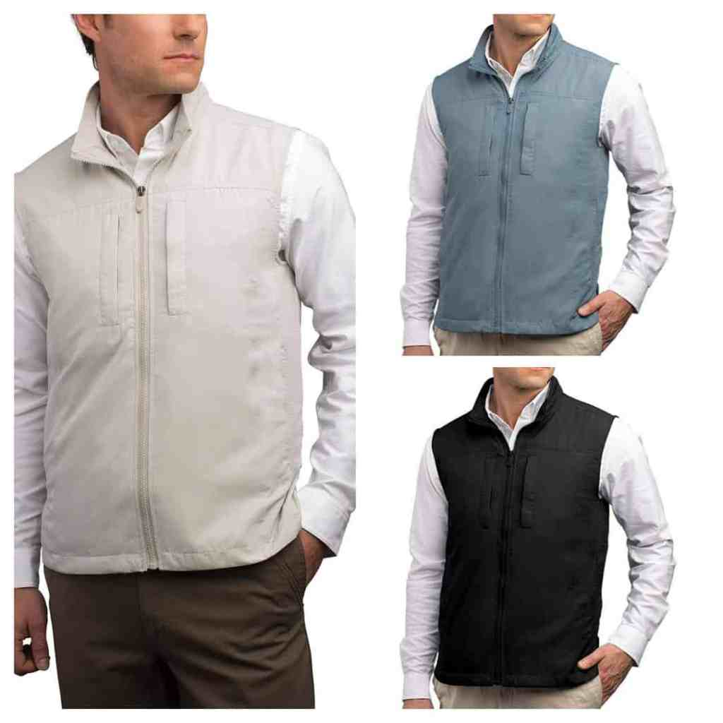 The vest comes in three colors