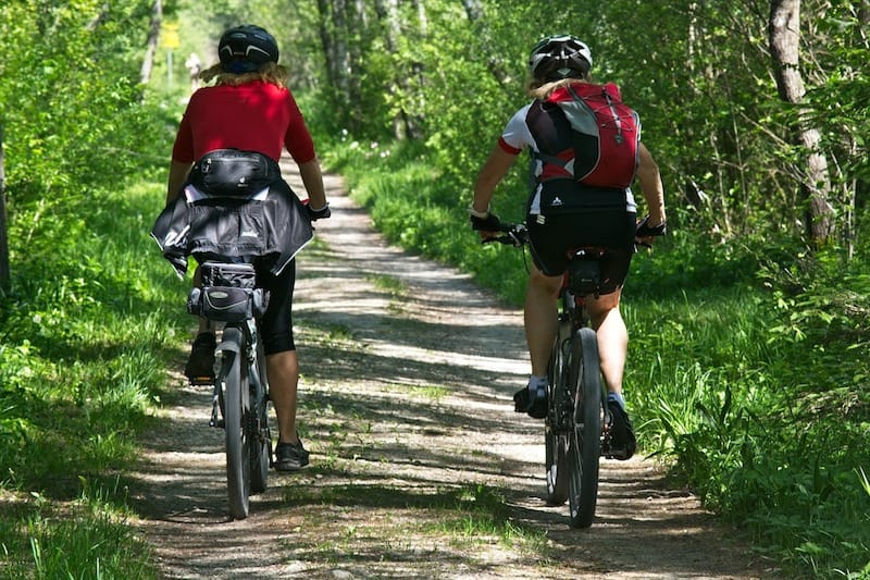 To travel by bicycle, you'll need to pack light