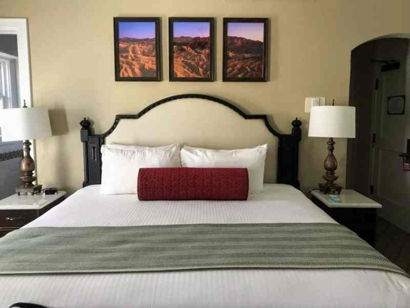 An inviting bedroom at the Inn at Death Valley