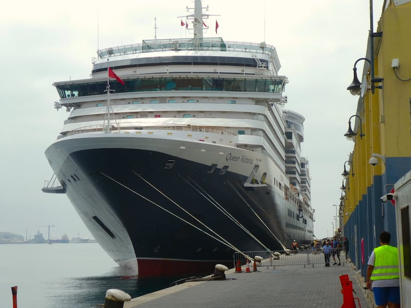 Voyage du Vin Cruise: Queen Victoria docked in Gibraltar