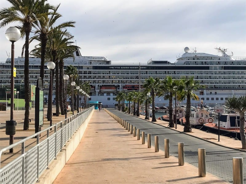 Viking Star at the Port of Cartagena, Spain