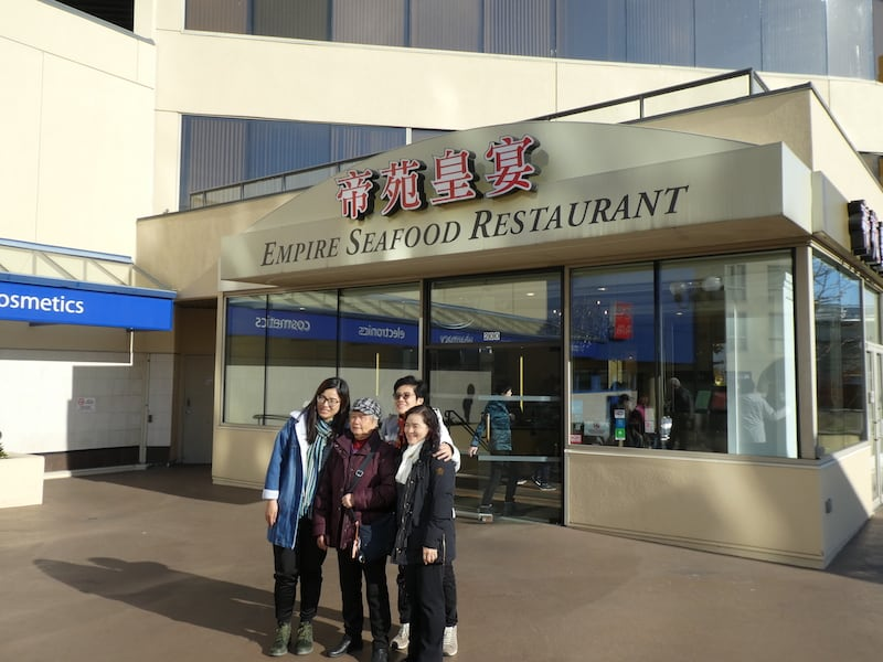 Chinese-Canadian Families pack the Empire Seafood Restaurant, even at mid-morning
