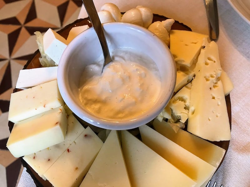 Local cheese in the Puglia region of Italy