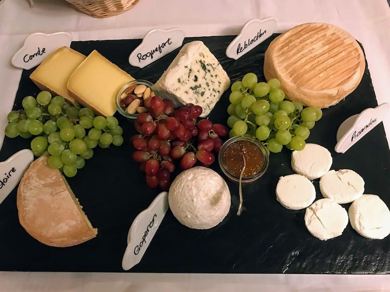 An appetizing cheese display on Sea Cloud