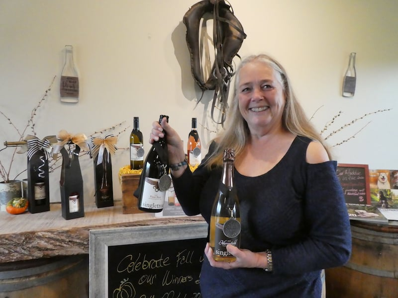 In Fraser Valley wine region, Singletree Owner, Debbie Etsell, with Award Winning Wines