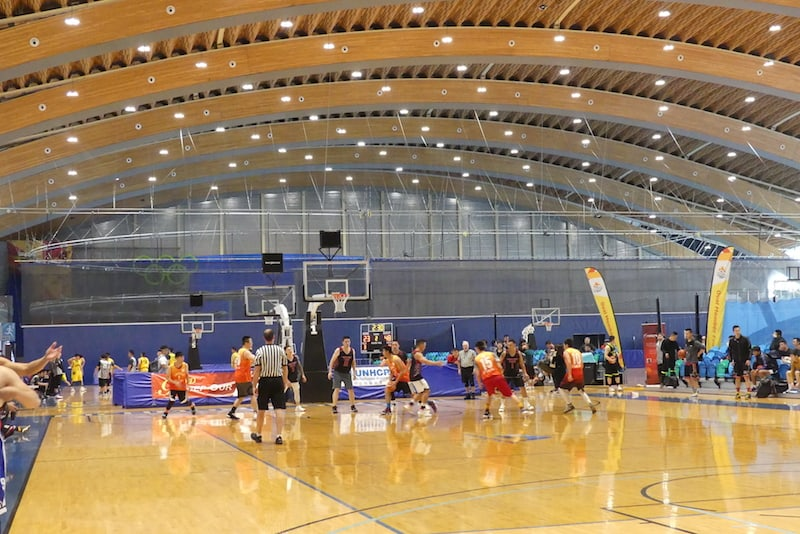The Richmond Olympic Oval includes ten, always busy. basketball courts