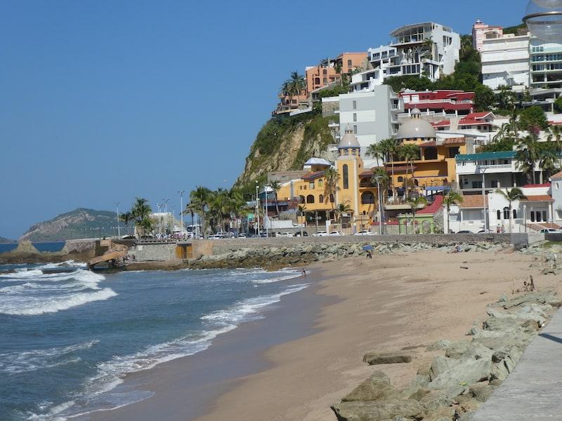 Eurodam from Vancouver: The beachfront walk in Mazatlan