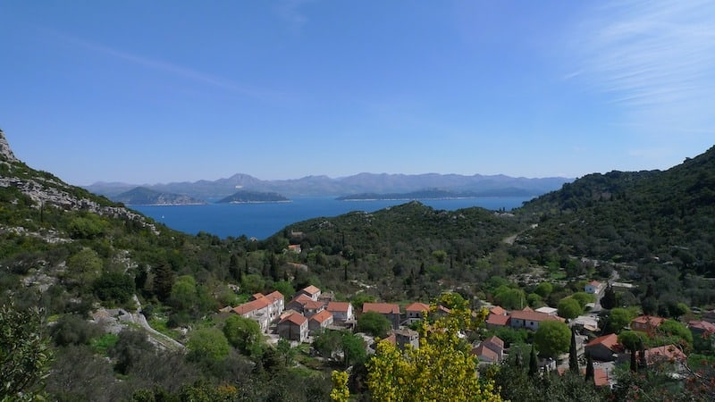 Croatia by boat: View of the Adriatic from Mljett