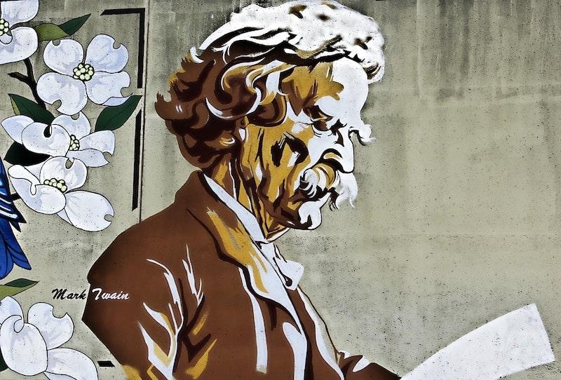 Portrait of Mark Twain