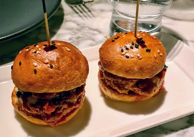 Best Meals: The polpette (meatball) sliders with mozzarella and basil pesto at Portale were amazingly light and tasty