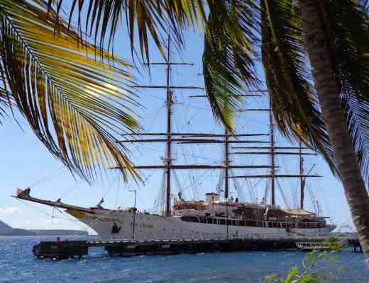 Land and Sea Adventure: Sea Cloud docked in Dominica