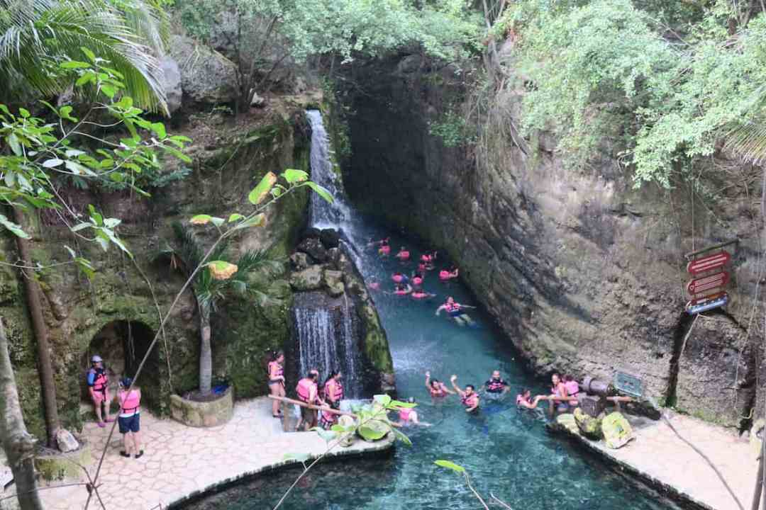 Underground river at Xcaret