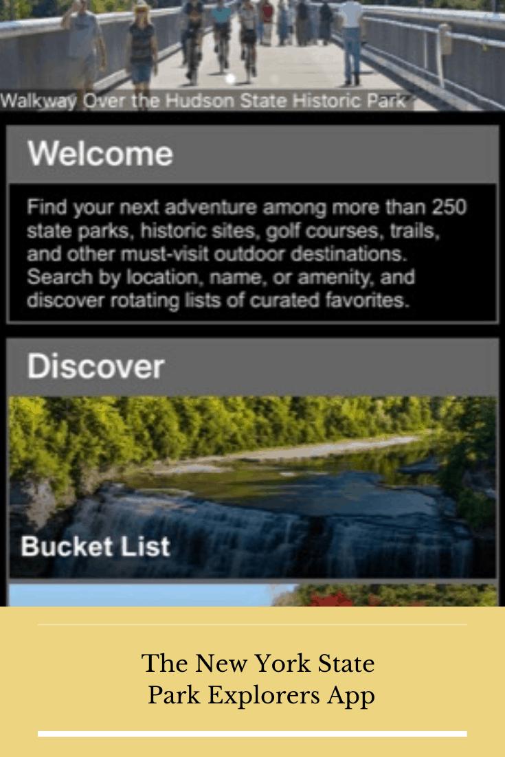 NYS park explorers app pin
